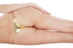 Biquini dourado Imagem de Stock Royalty Free