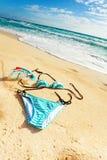 Biquini na praia Imagens de Stock Royalty Free