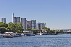 Bir-Hakeim Bridge, Front de Seine district Stock Photos
