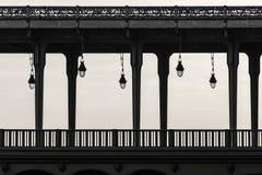 Bir Hakeim bridge in Paris France, black and white photography. Bir Hakeim bridge in Paris, France, black and white photography Stock Photography