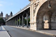 Bir-Hakeim Bridge in Paris Royalty Free Stock Image