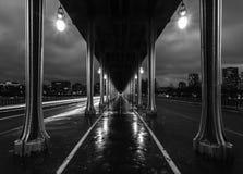 Bir Hakim Bridge b/w Stock Photo