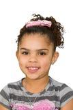 Biracial маленькая девочка стоковое изображение rf