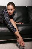 biracial шикарная женщина стоковая фотография rf