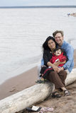 Biracial husband, wife and son Royalty Free Stock Images