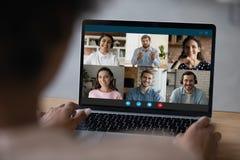 Free Biracial Woman Talk On Video Call On Laptop Royalty Free Stock Photos - 215127098