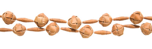 Birch bark beads Stock Images