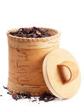 Birch bark box Stock Photo