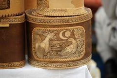 Birch bark box Royalty Free Stock Photography