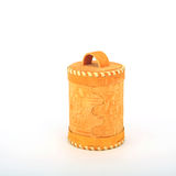 Birch bark container on white. Background Royalty Free Stock Photo
