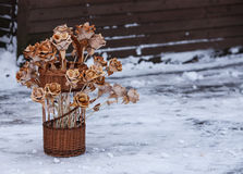 Birch bark flowers Royalty Free Stock Photo