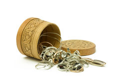 Free Birch Bark Jewelry Casket Stock Image - 12626711