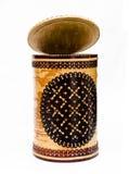 Birch bark pot of handmade Stock Photography