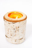 Birch Candle Holder Stock Photography