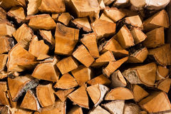 Birch fire wood Royalty Free Stock Images