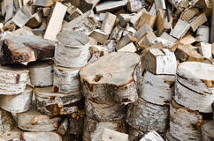 Birch fire wood Stock Photos