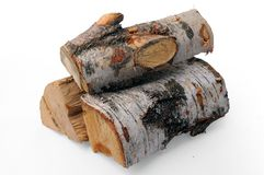 Birch firewood Stock Photo