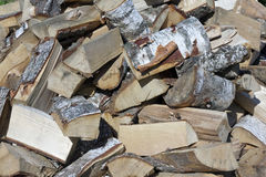 Birch firewood for bath Royalty Free Stock Images