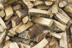 Birch firewood. Is harvested in the summer to the winter to get warm Royalty Free Stock Image