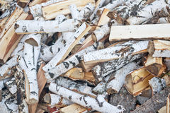 Birch firewood Royalty Free Stock Photos