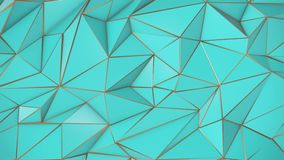 Birch-golden abstract low poly triangle background. 4k stock footage