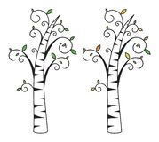 Birch tree. Without background. Vector format stock illustration