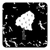 Birch tree icon, grunge style Stock Photography