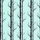 Birch tree.seamless pattern..fabricDesign element for wallpapers, web site background, baby shower invitation, birthday card Royalty Free Stock Images