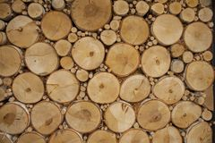 Stacked branches pattern Royalty Free Stock Photo