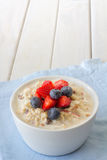 Bircher Muesli with Berries Vertical Royalty Free Stock Photo