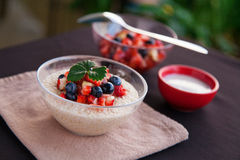 Bircher muesli with fruit salsa Stock Photo