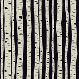 Birches in vector Stock Images