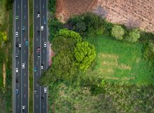 Top view traffic Stock Images