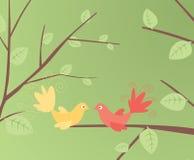 Bird. Abstract flower ,love bird design vector illustration