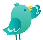 Bird. Illustration of Twitter Bird  isolate on white background Royalty Free Stock Photography