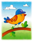Bird. Simple illustration of bird created using adobe illustrator Stock Photography