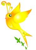 Bird. Beautiful  golden little bird Royalty Free Stock Image