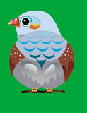 Bird. Isolated bird from vector. There is a ESP format file here Royalty Free Stock Image