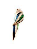 Bird. Monted in brooch with precious stones Royalty Free Stock Photos