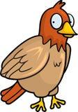 Bird. A brown cartoon bird smiling Stock Photography