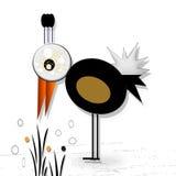 Bird. Abstract Background with  fantasy bird Stock Photo