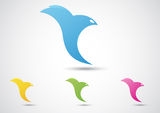 Bird Abstract Icon. Business concept Royalty Free Stock Images