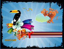 Bird abstract vector illustration Royalty Free Stock Images