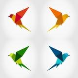 Bird abstraction3. Bird in flight on a grey background. A vector illustration Stock Photo