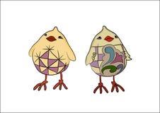 Chick chore - baby chicken vector illustration