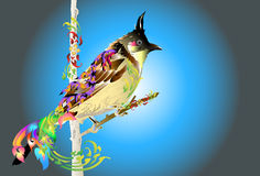 Bird art design and line thai Royalty Free Stock Image