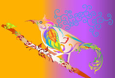 Bird art design and line thai Royalty Free Stock Images