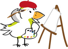 Bird artist Royalty Free Stock Photography