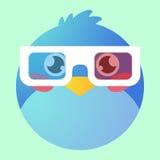 Bird avatar. Illustration of a cartoon bird avatar Royalty Free Stock Photos