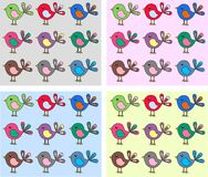 Bird backgrounds Royalty Free Stock Photos